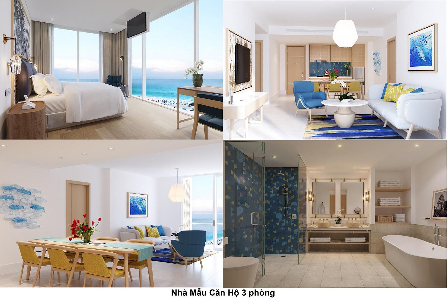 căn hộ 3 phòng ngủ sunbay park