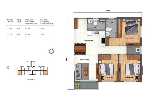 thiết kế căn hộ 3pn lovera park