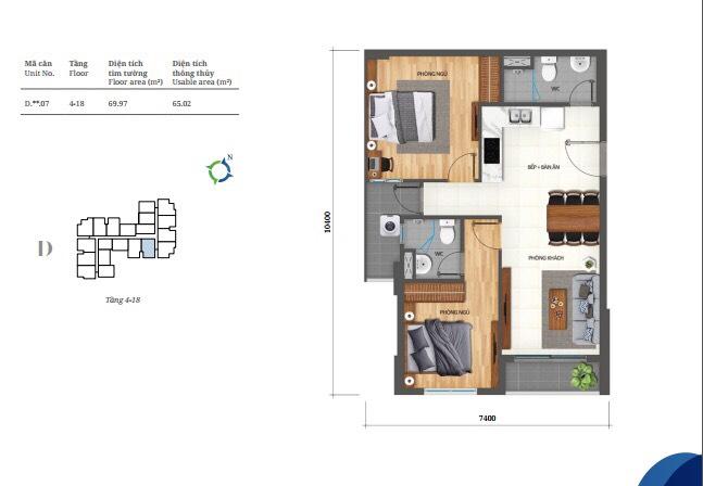 thiết kế dự án lovera vista 2pn khang điền