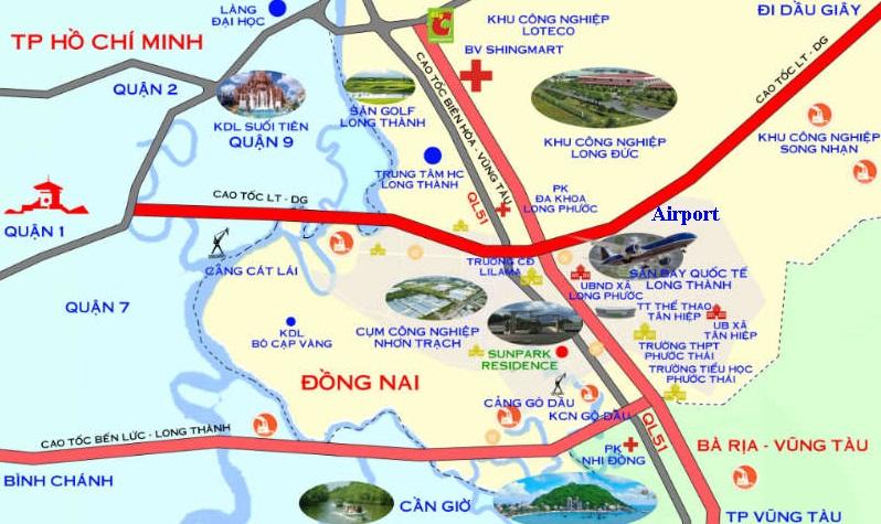 bản đồ qui hoạch long thành